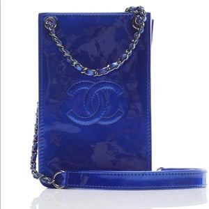 Chanel Crossbody O Phone Case Royal Blue